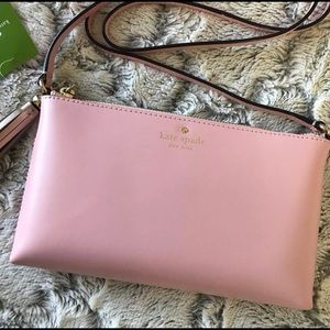 🆕 Kate Spade NWT Rose Jade Leather Crossbody Bag
